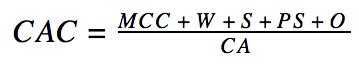 CAC equation ecommerce
