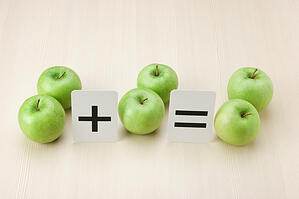 green apples in equation