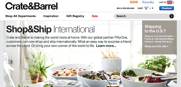 Crate & Barrel shipping policy