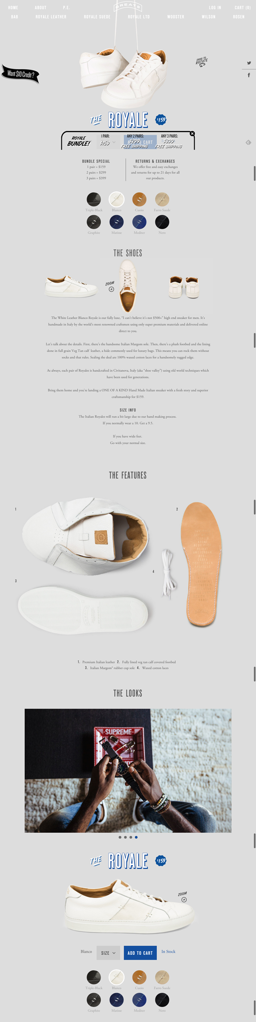 Greats ecommerce product page