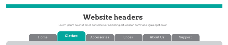 ecommerce website header