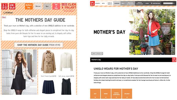 uniqlo mother's day marketing