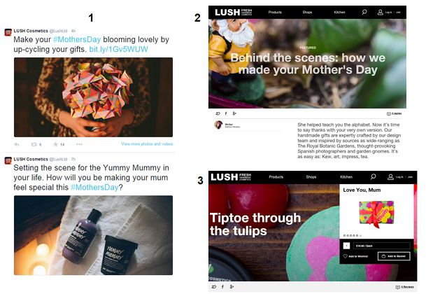 lush social media campaigns for mother's day