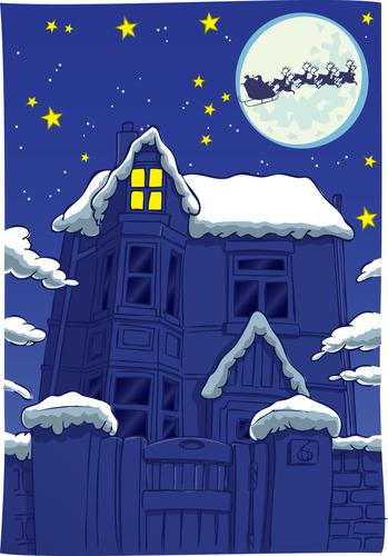 Christmas_sleigh_over_house