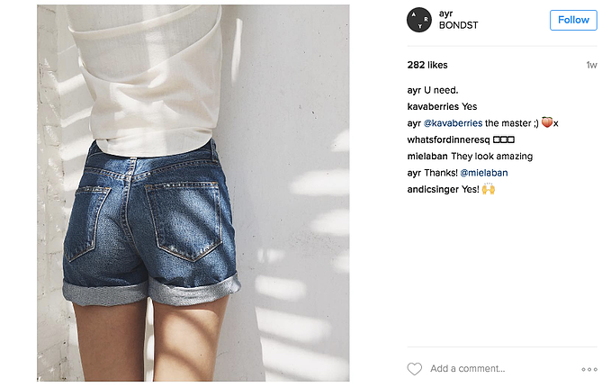 AYR Instagram feed brand tone of voice