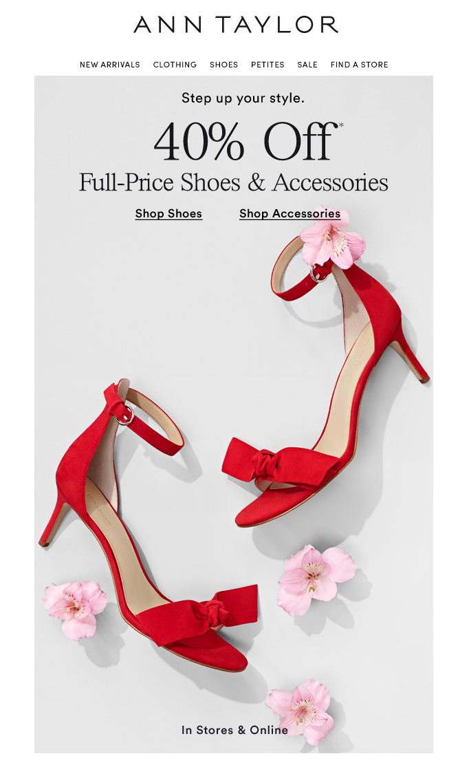 Ann Taylor marketing in stores and online