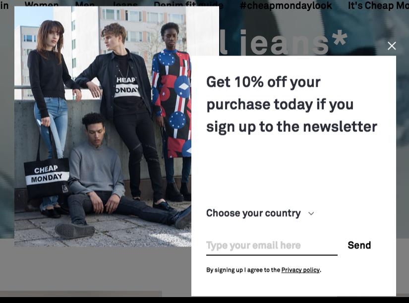 Cheap Monday ecommerce popup example_brilliant design