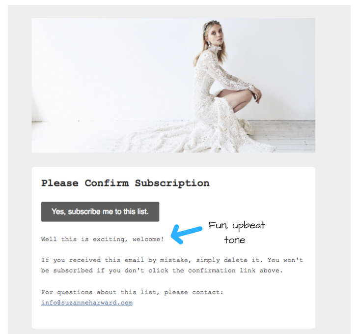 double opt-in confirm subscription example email