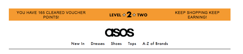 ASOS loyalty scheme dynamic content in email marketing campaign
