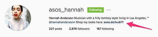 ecommerce influencer ASOS Hannah