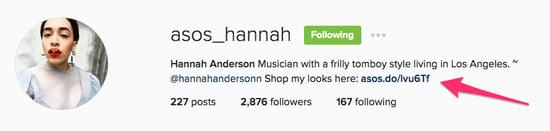 ecommerce influencer ASOS Hannah