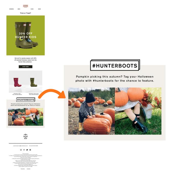 Hunter Halloween retail campaign