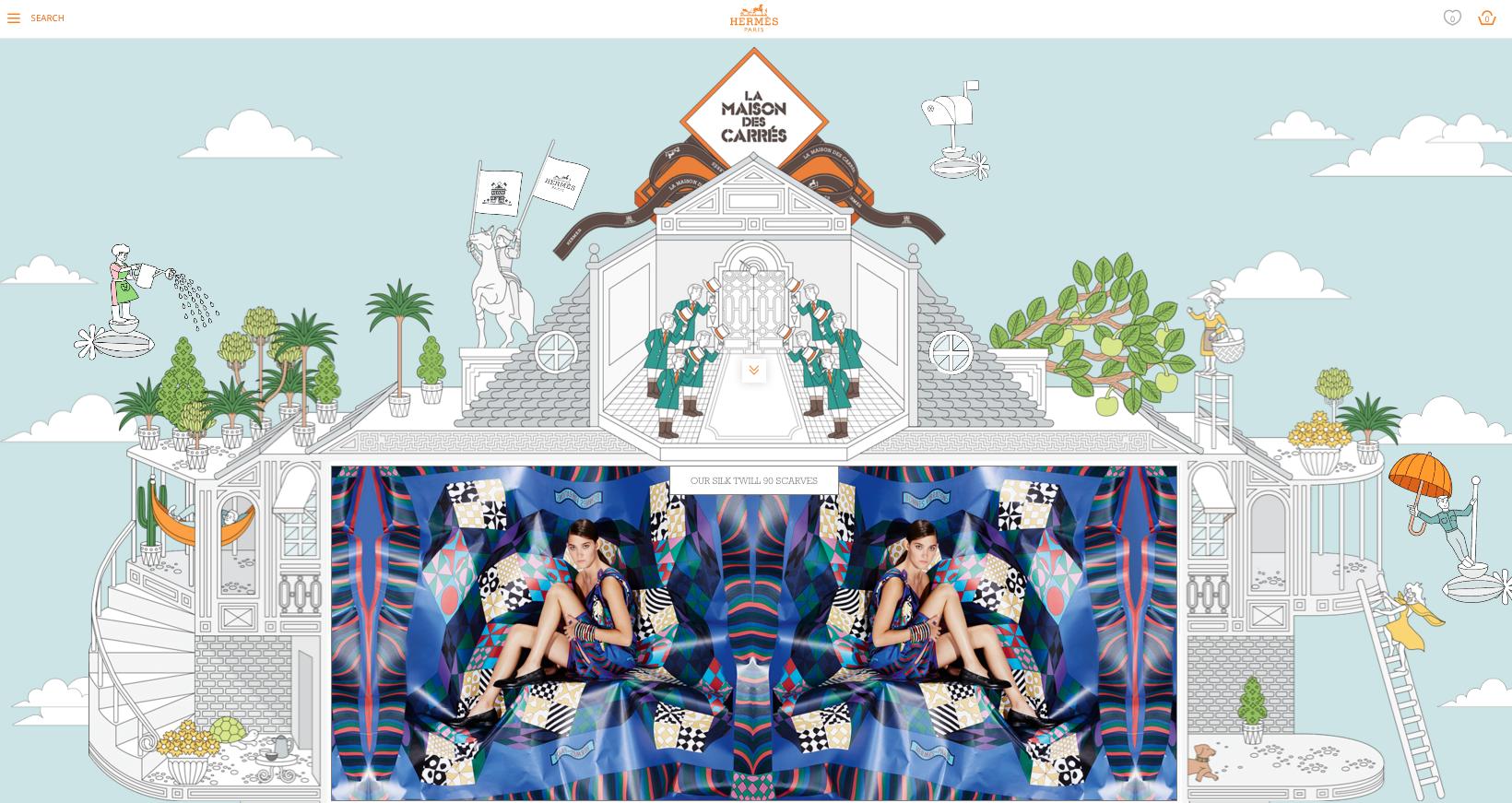 La Maison des Carres Hermes content marketing