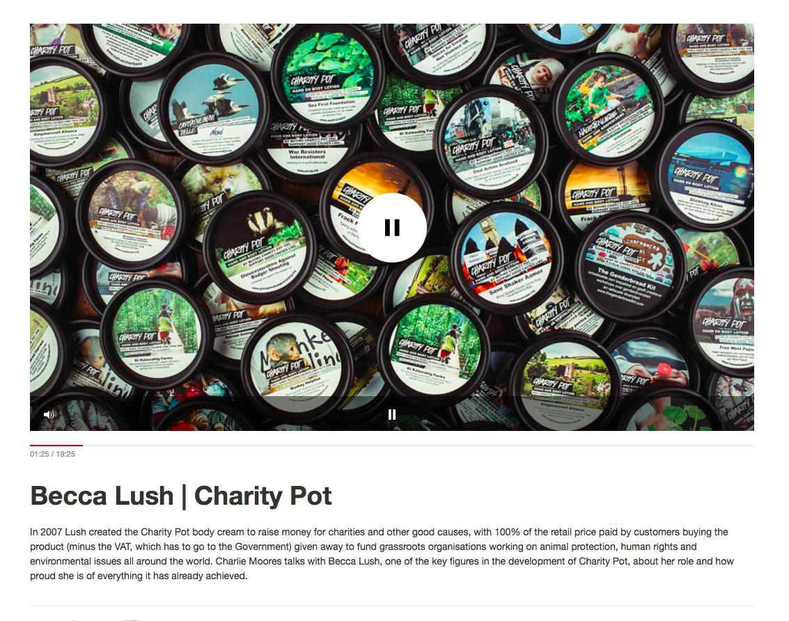 Lush podcast CSR