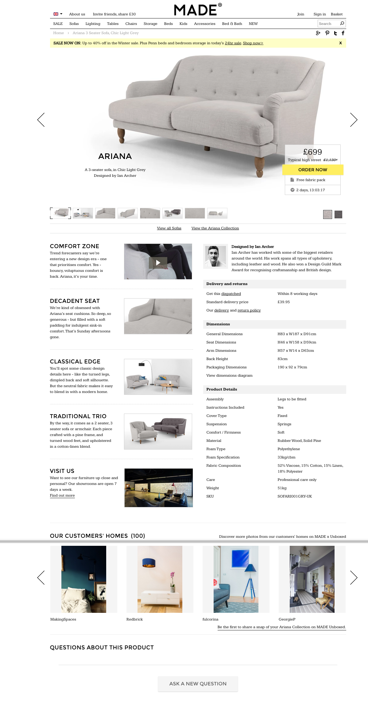Made product page