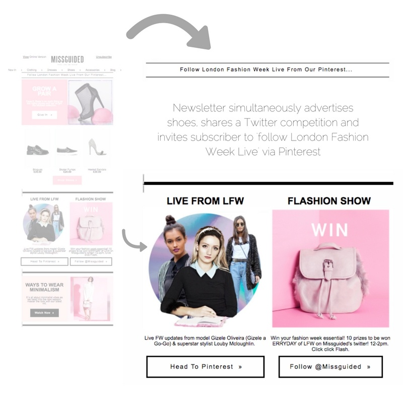 Missguided email marketing_social media promotion