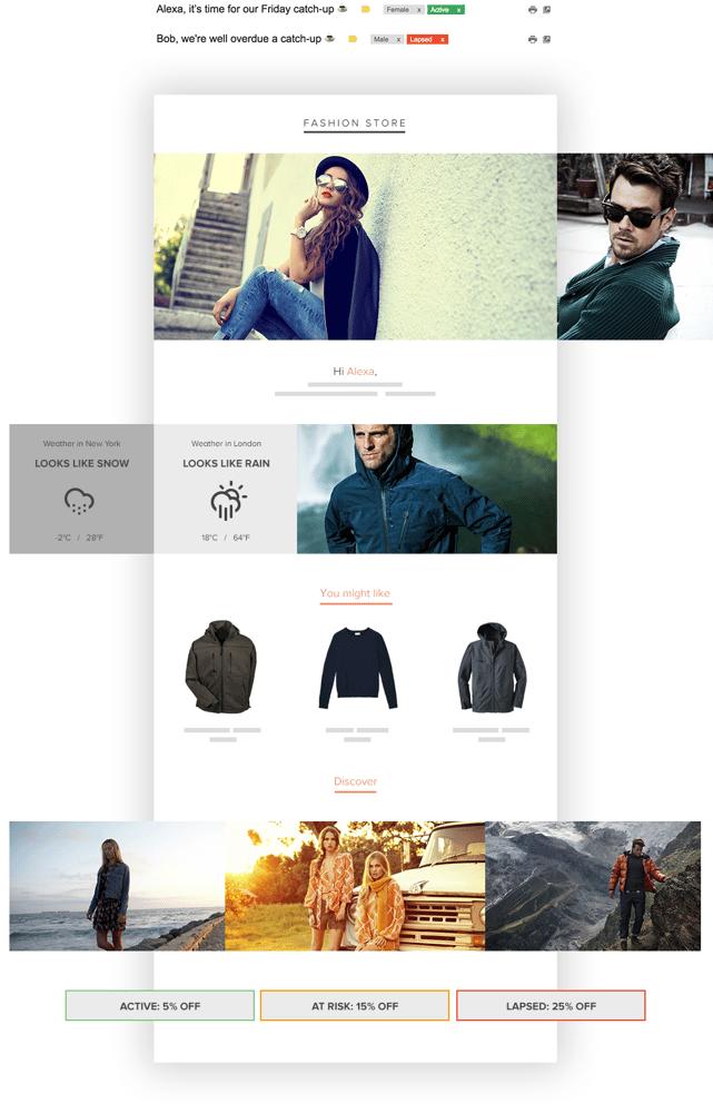ecommerce email marketing newsletter example