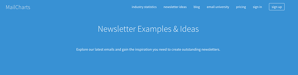 MailChart Newsletter Examples
