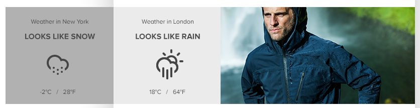 weather forecast dynamic content ecommerce newsletter