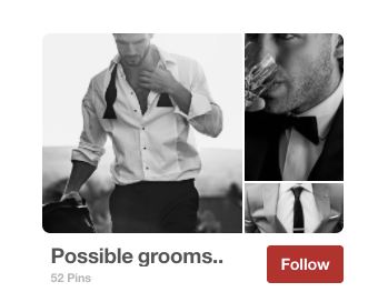 Example of a good Pinterest board from bridal brand One Day