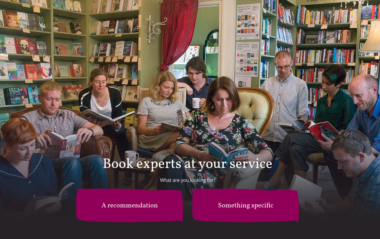 ecommerce bookshops personalised service