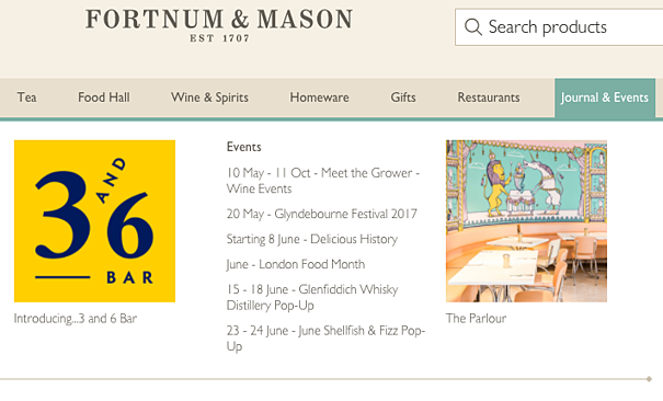 Fortnum & Mason Events