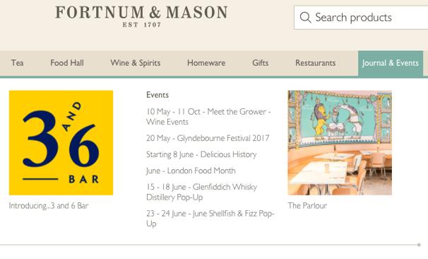Fortnum & Mason Events