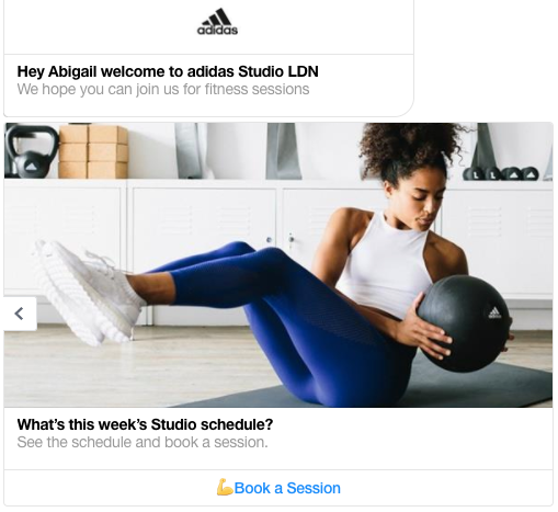 adidas chat bot studio London