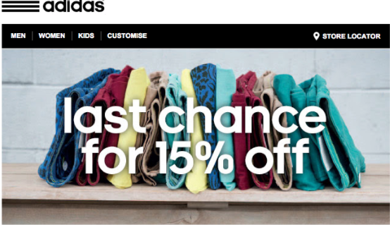 adidas welcome series_ecommerce marketing_lifecycle marketing
