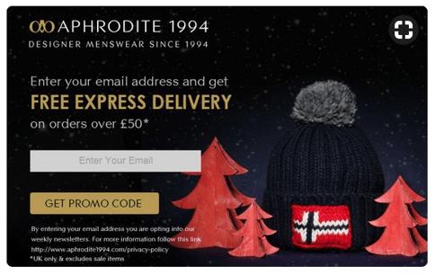 festive popup Christmas campaigns