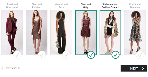 Topshop guided selling