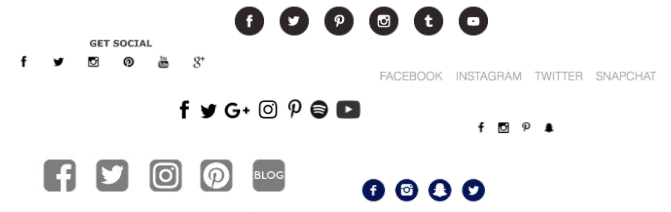 social media icons in email