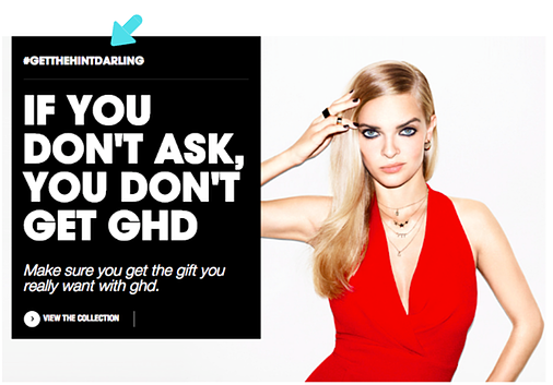 ghd cross channel hinting campaign