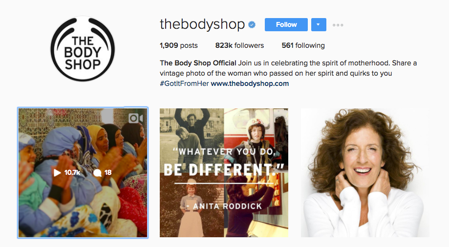 The Body Shop Mother's Day campaign