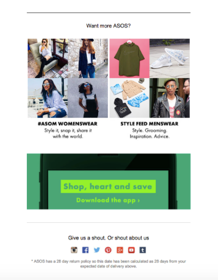 ASOS want more content?