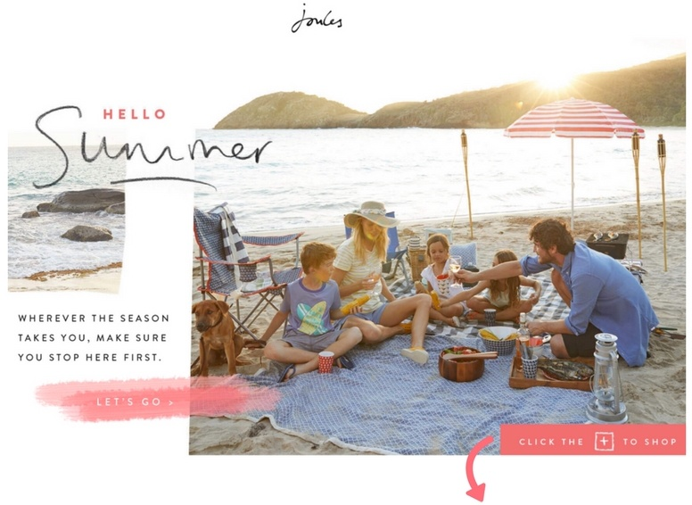 Joules shoppable lookbook
