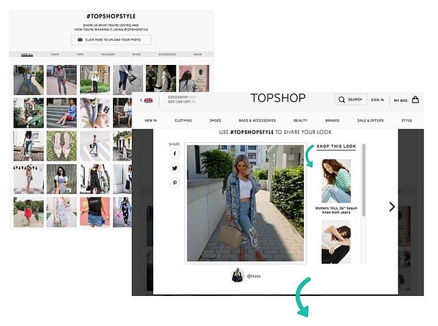 Topshop shoppable UGC