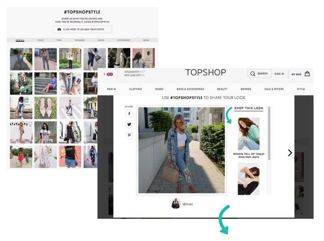 Topshop shoppable UGC
