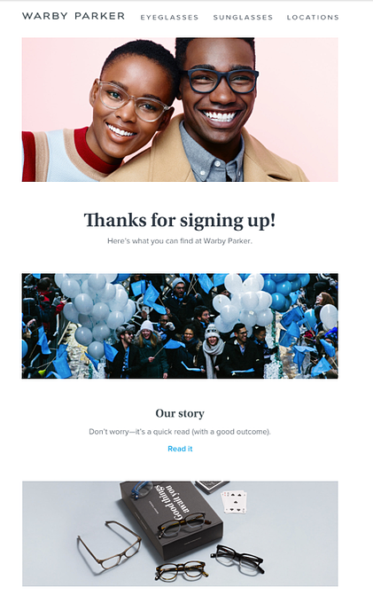 Warby Parker welcome email .png