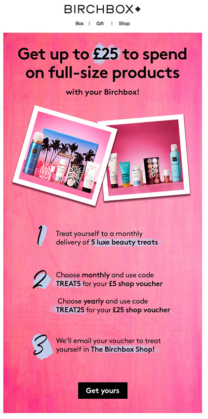 birchbox subscription and full size products email marketing.png