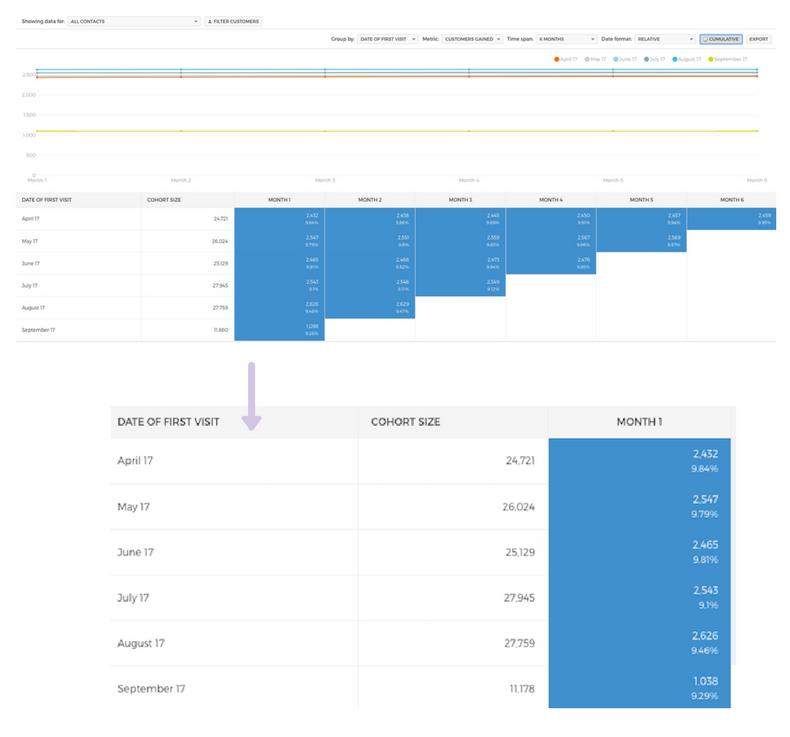 cohort analysis ecommerce_customer conversion