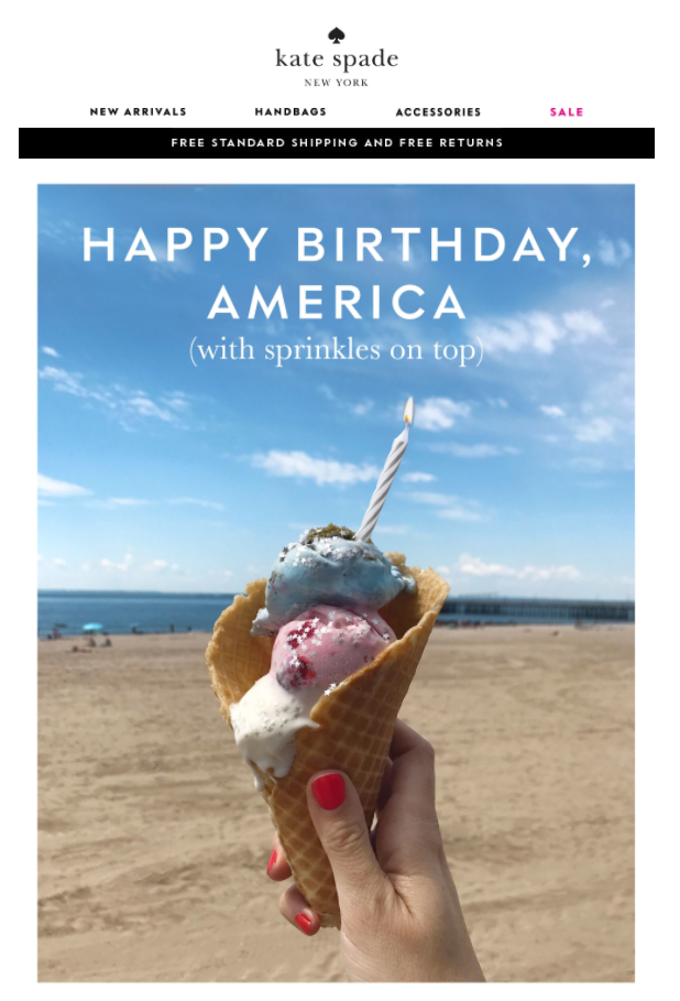 Kate spade fourth july email