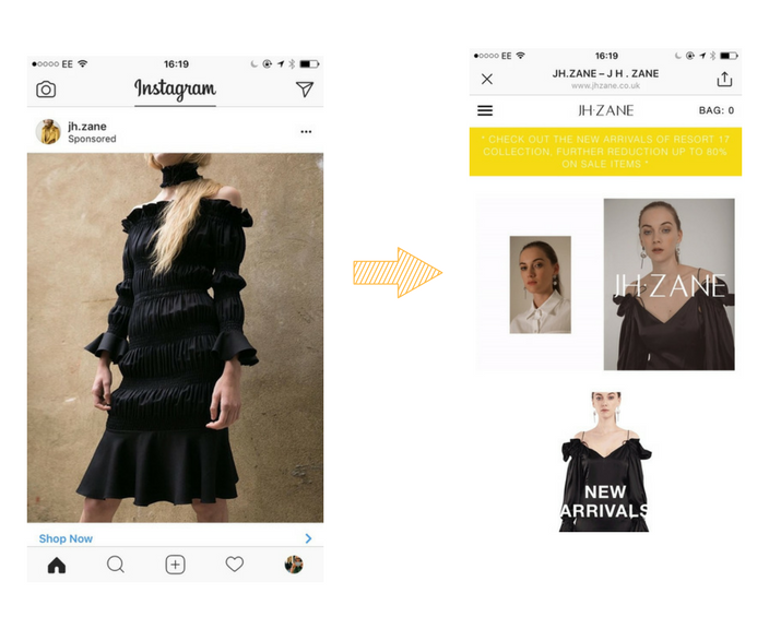 instagram ads examples