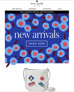Kate Spade email gif