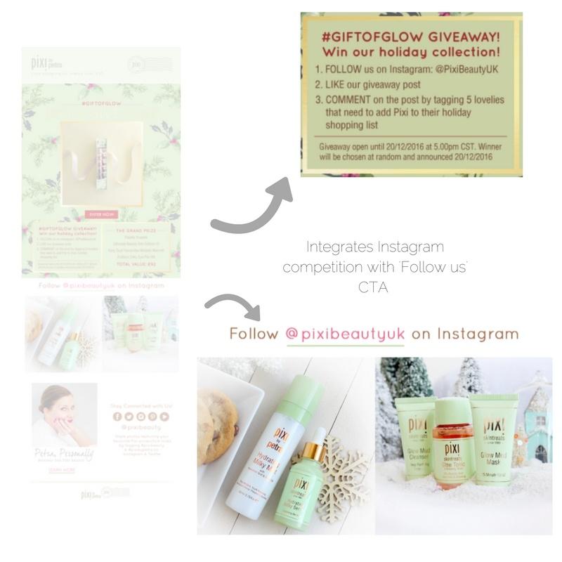 Pixi Beauty email marketing_social media promotion