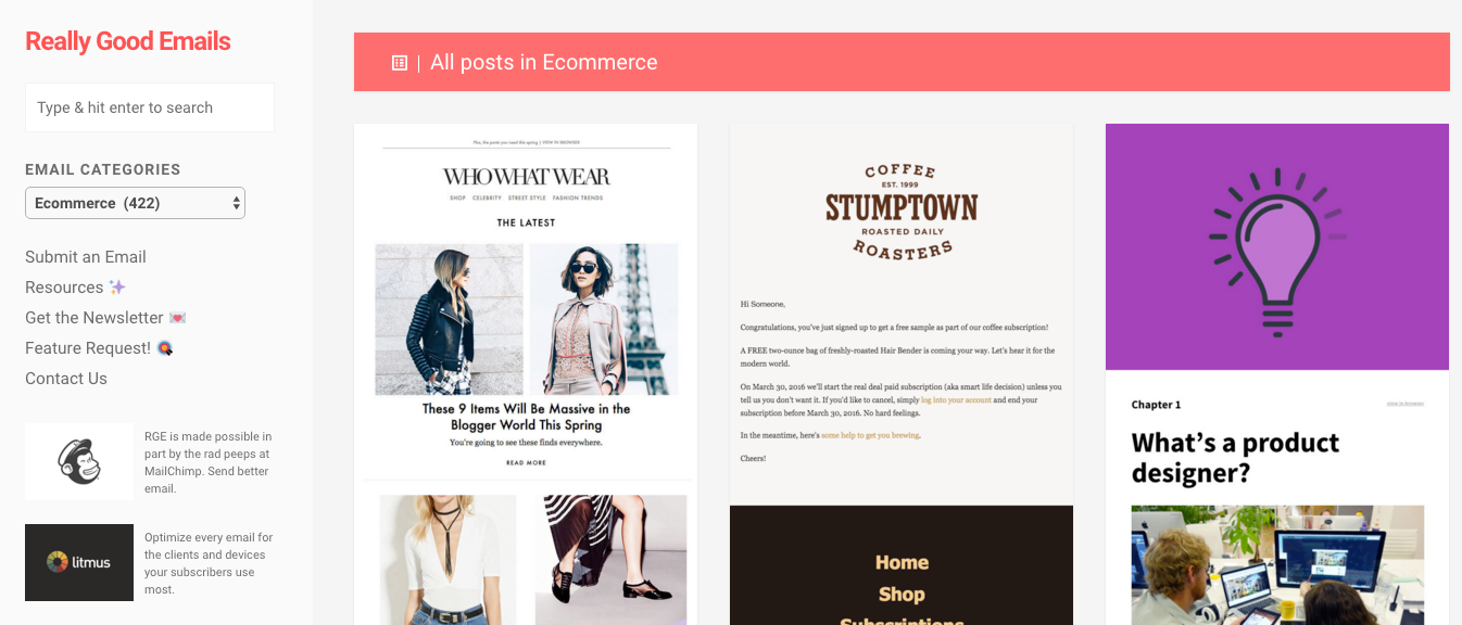 Email examples