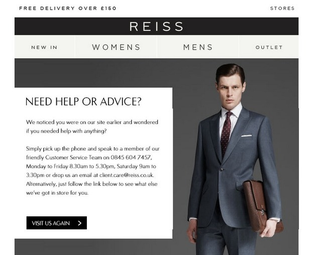 Reiss abandoned browse email
